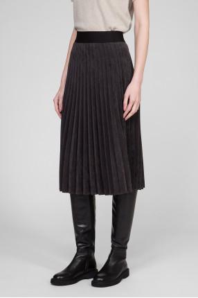 Женская темно-серая плиссированная юбка 1