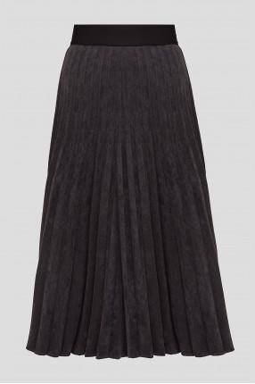 Женская темно-серая плиссированная юбка