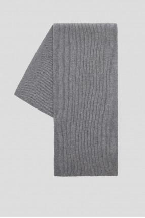Мужской серый шарф