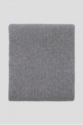 Мужской серый шарф 1