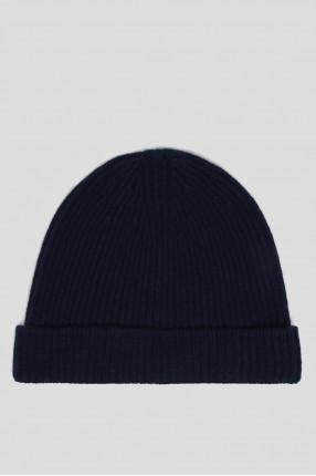 Темно-серая шерстяная шапка