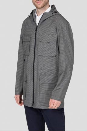 Мужская серая куртка в клетку 1