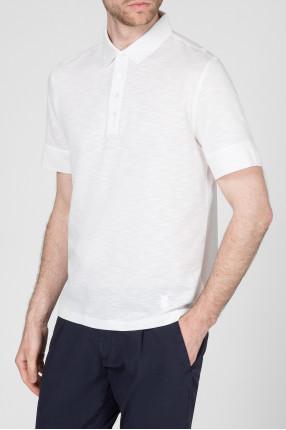 Мужское белое поло 1