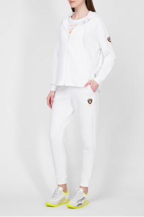 Женский белый спортивный костюм (худи, брюки) 1