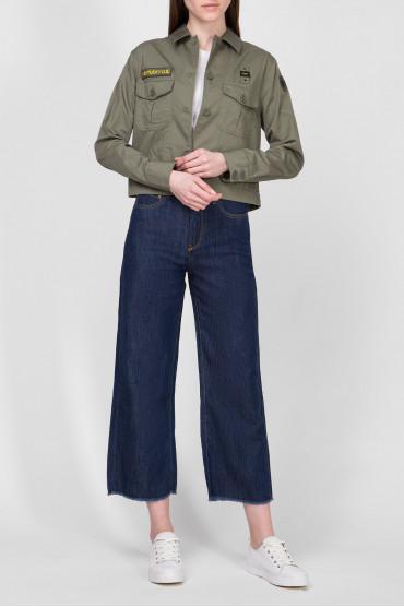 Женские темно-синие джинсы 4