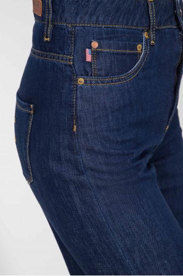 Женские темно-синие джинсы 5