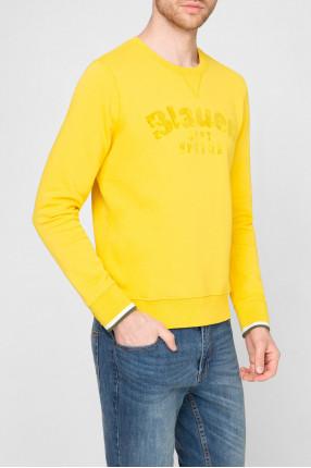 Мужской желтый свитшот 1