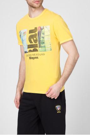 Мужская желтая футболка 1