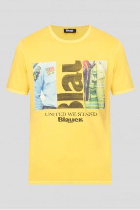 Мужская желтая футболка