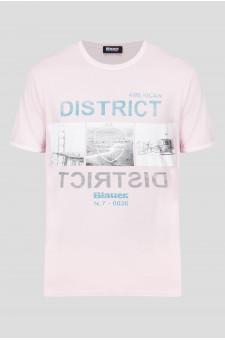 Чоловіча рожева футболка