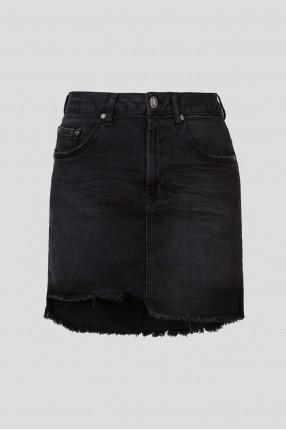 Женская черная джинсовая юбка BLACK SWAN