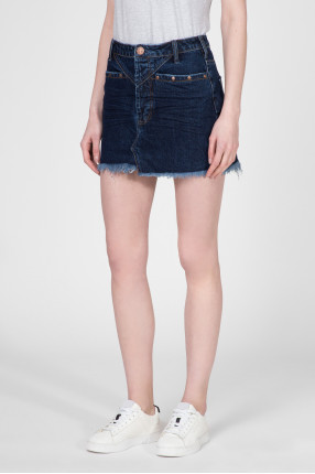 Женская темно-синяя джинсовая юбка  1