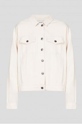 Женская бежевая джинсовая куртка