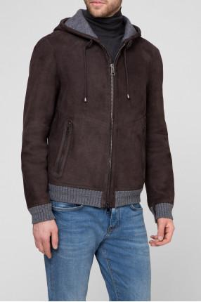 Мужская коричневая замшевая куртка 1