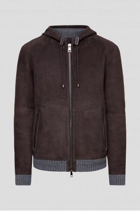 Мужская коричневая замшевая куртка