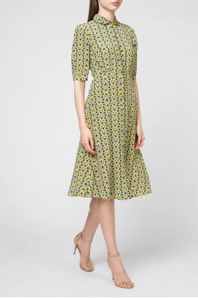 Женское шелковое платье с узором 1