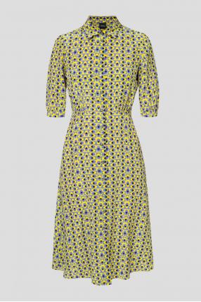 Женское шелковое платье с узором