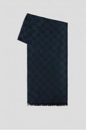 Мужской темно-синий шарф