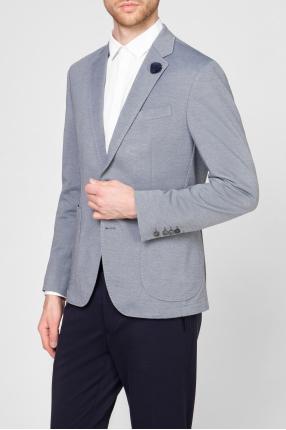 Мужской голубой пиджак 1
