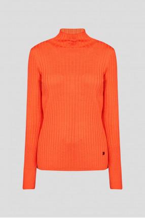 Женский оранжевый шерстяной гольф