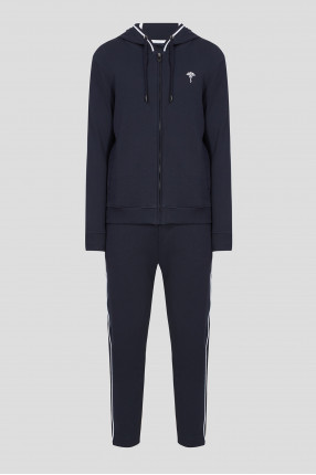 Мужской темно-синий спортивный костюм (худи, брюки)