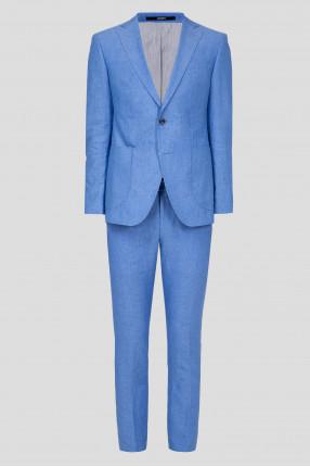 Мужской голубой костюм (пиджак, брюки)