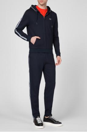 Мужской темно-синий спортивный костюм (худи, брюки) 1