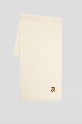 Женский белый шерстяной шарф