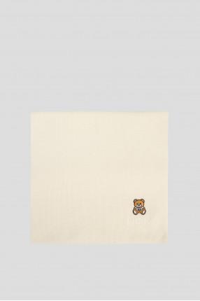 Женский белый шерстяной шарф 1