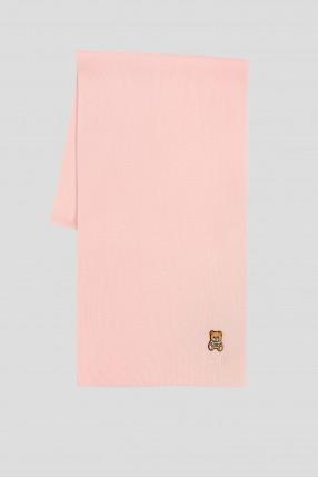 Женский пудровый шерстяной шарф