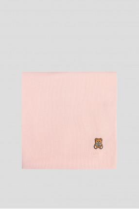 Женский пудровый шерстяной шарф 1