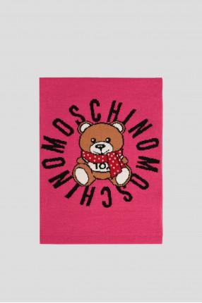 Женский розовый шерстяной шарф 1