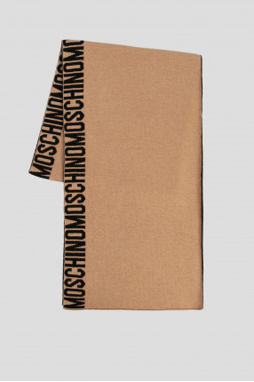 Женский бежевый шерстяной шарф