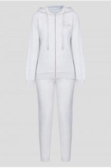 Женский серый спортивный костюм (худи, брюки)