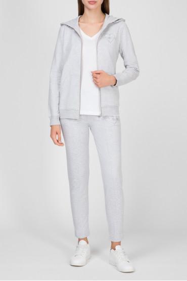 Женский серый спортивный костюм (худи, брюки) 5