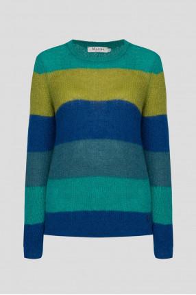 Женский шерстяной свитер в полоску