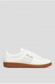 Мужские белые кожаные сникеры Arthur Ashe Sport Gum