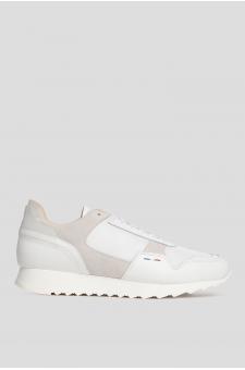 Женские белые кожаные кроссовки CHALLENGER