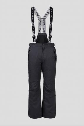 Мужские черные лыжные брюки