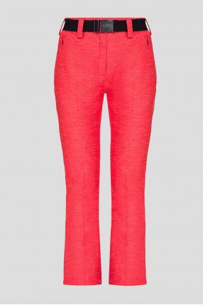 Женские красные лыжные брюки