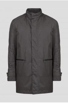 Мужская серая удлиненная куртка