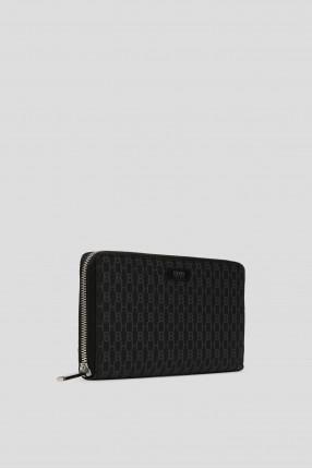 Мужской серый кожаный кошелек 1