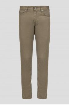 Мужские оливковые брюки