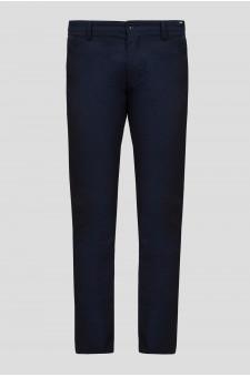 Мужские темно-синие чиносы Slim Fit