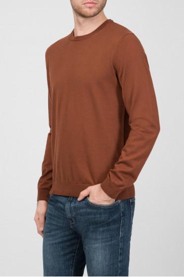 Мужской коричневый джемпер Slim Fit 2