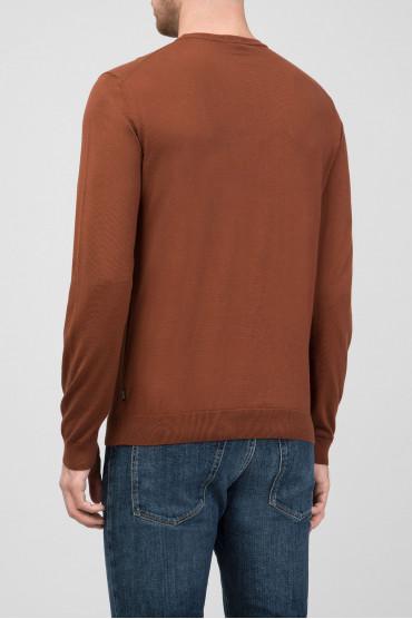 Мужской коричневый джемпер Slim Fit 3