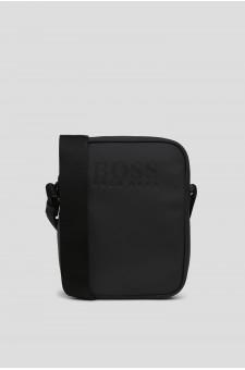 Мужская черная сумка через плечо