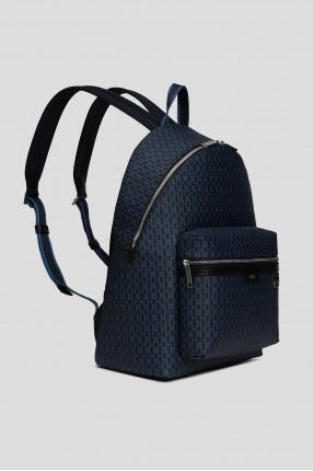 Мужской синий рюкзак с принтом 1