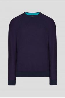 Мужской фиолетовый джемпер
