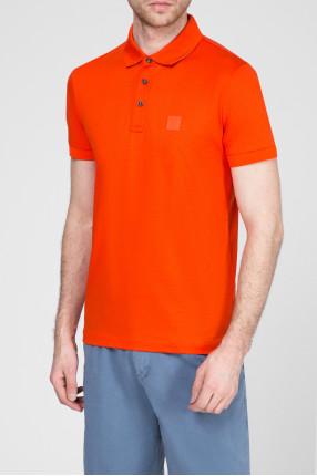 Мужское оранжевое поло 1